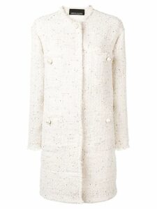 Ermanno Ermanno tweed coat - Neutrals