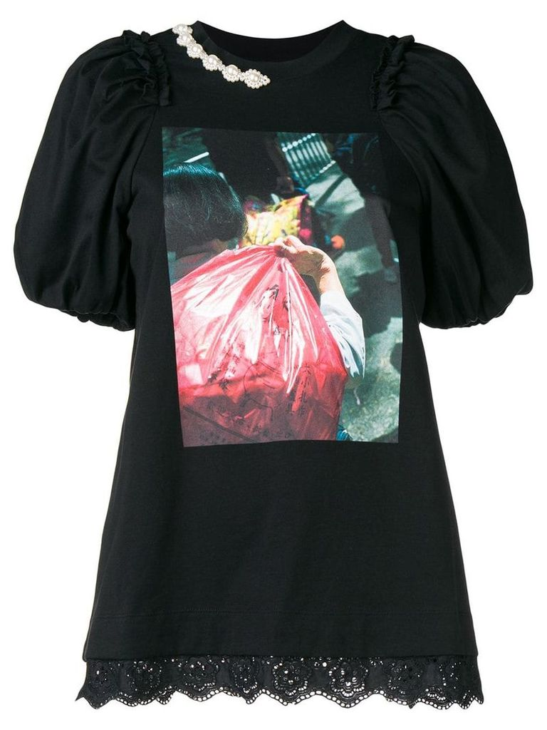 Simone Rocha photo print T-shirt - Black