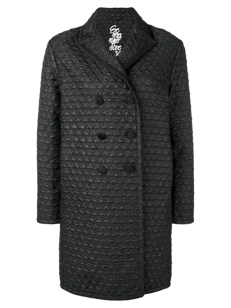 Ermanno Scervino quilted double breasted coat - Black