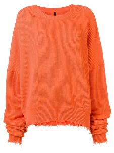 Unravel Project oversize crewneck jumper - Orange