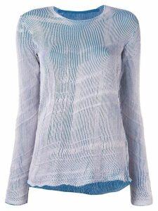 Mm6 Maison Margiela long knit jumper - Pink