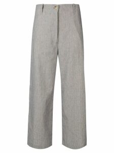 Semicouture cropped wide leg trousers - Neutrals