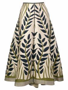 Fendi floral jacquard skirt - Neutrals