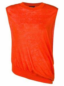 Theory fine knit sleeveless top - Orange