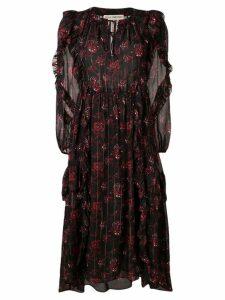 Ulla Johnson tie neck floral maxi dress - Black
