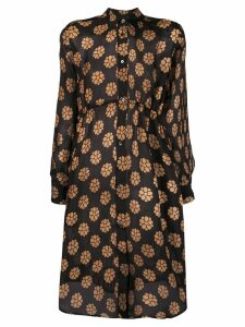 Mm6 Maison Margiela floral print shirt dress - Black