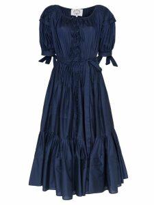 Evi Grintela Franca puff sleeve tiered dress - Blue