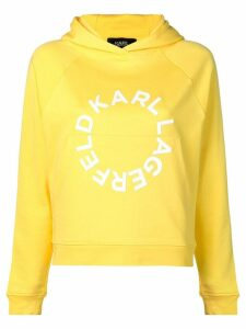 Karl Lagerfeld circle logo hoodie - Yellow
