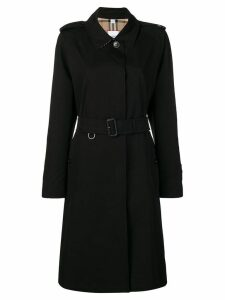 Burberry single-breasted trench coat - Black
