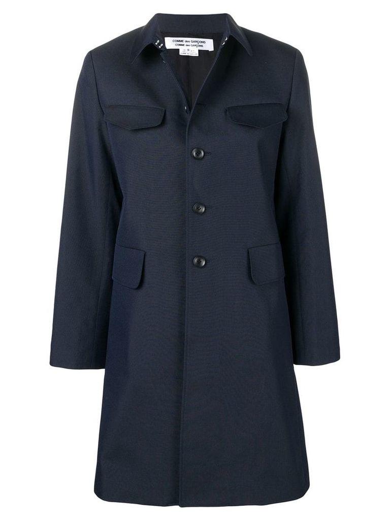 Comme Des Garçons Comme Des Garçons single breasted coat - Blue