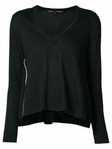 Proenza Schouler Cotton Silk Wave Pullover - Black