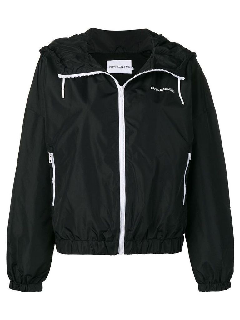 Calvin Klein Jeans hooded K-way jacket - Black