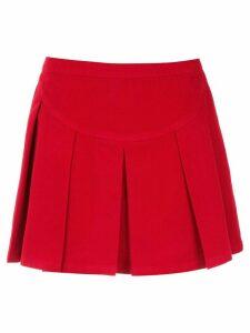 Andrea Bogosian pleated mini skirt - Red