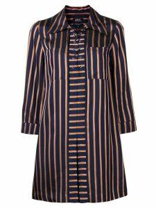 A.P.C. striped shirt dress - Black