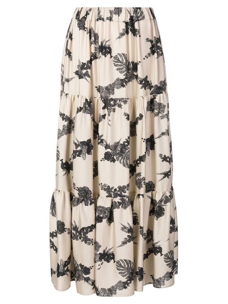 Ballantyne geometric pattern long skirt - Neutrals