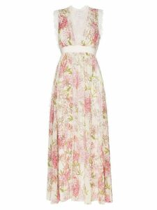 Giambattista Valli floral print silk dress - Neutrals
