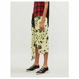 Yuna floral-print ruffled woven skirt