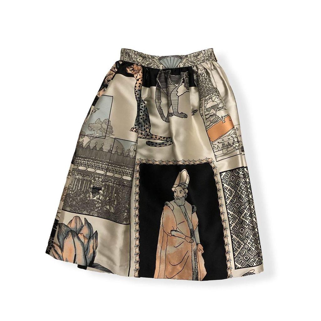 Roi du Lac - History Jacquard Skirt