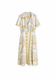 Midi printed dress