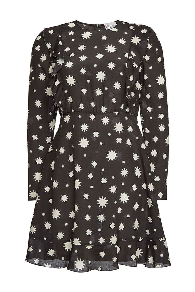 RED Valentino Silk Star Print Dress