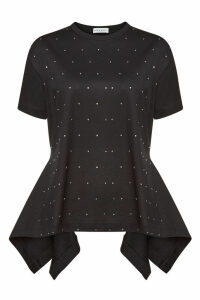 Sonia Rykiel Cotton T-Shirt with Crystals