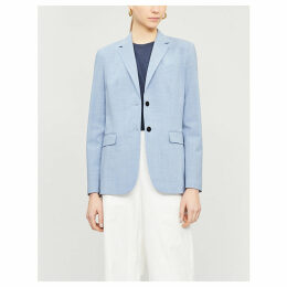 Single-breasted stretch-wool blazer