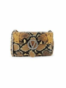 Poisson Python-Embossed Leather Crossbody Bag