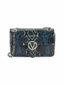 Antoinette Python-Embossed Leather Crossbody Bag