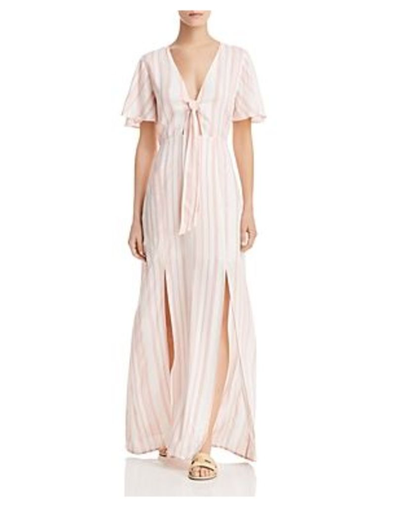 Lost + Wander Marina Striped Tie-Detail Maxi Dress