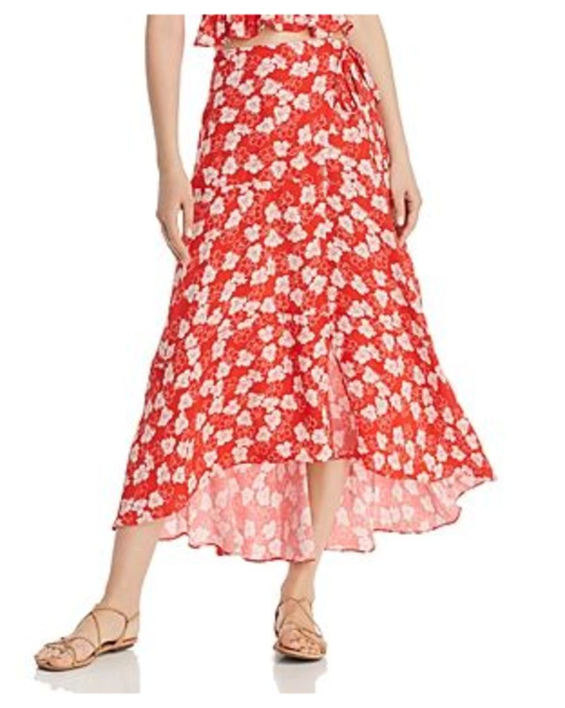 Whistles Floral Garland Wrap Skirt - 100% Exclusive
