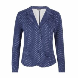 Blue Spot Jersey Blazer