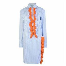 Prada Chiffon Ruffled Cotton Dress