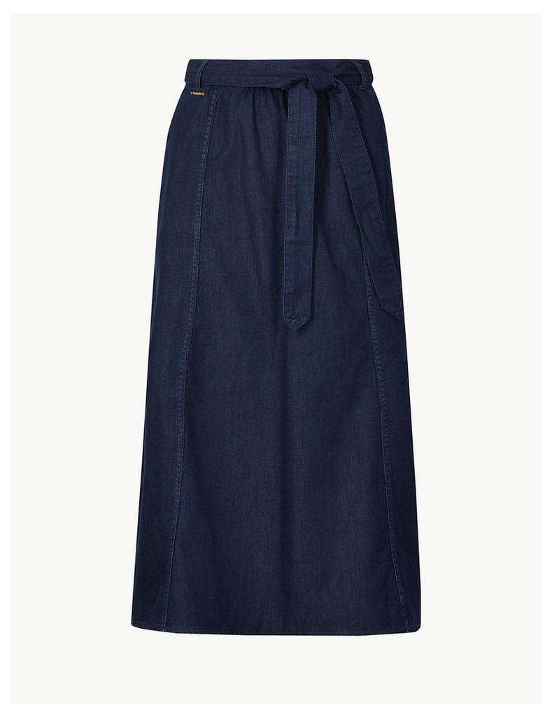 M&S Collection Denim Midi Skirt