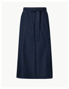 M&S Collection Denim Midi Skirt