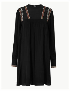 M&S Collection Embroidered Relaxed Mini Dress