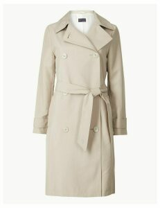M&S Collection PETITE Double Breasted Trench Coat