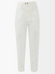 Gucci - Floral Print Single Breasted Silk Blazer - Womens - Red Multi