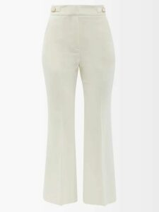 Junya Watanabe - Rachelle Lace Overlay Denim Midi Skirt - Womens - White Multi