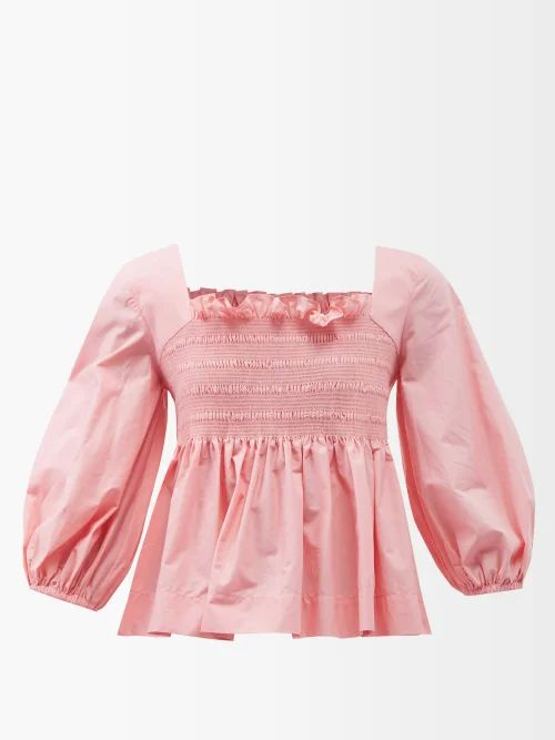 Cecilie Bahnsen - Rima Puff Sleeve Faille Top - Womens - White