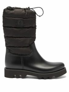 Bottega Veneta - Panelled Leather Skirt - Womens - Burgundy