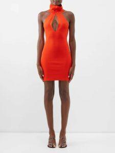 Issey Miyake - Drawstring Cotton Jersey T Shirt - Womens - Black