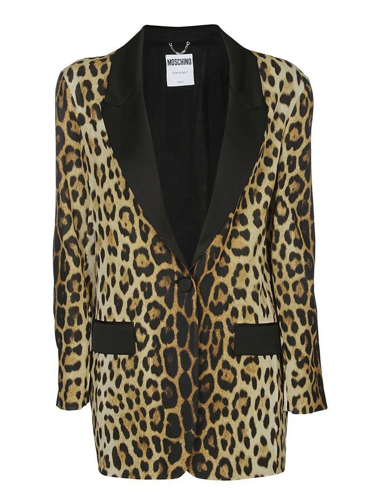 Moschino Leopard Print Coat
