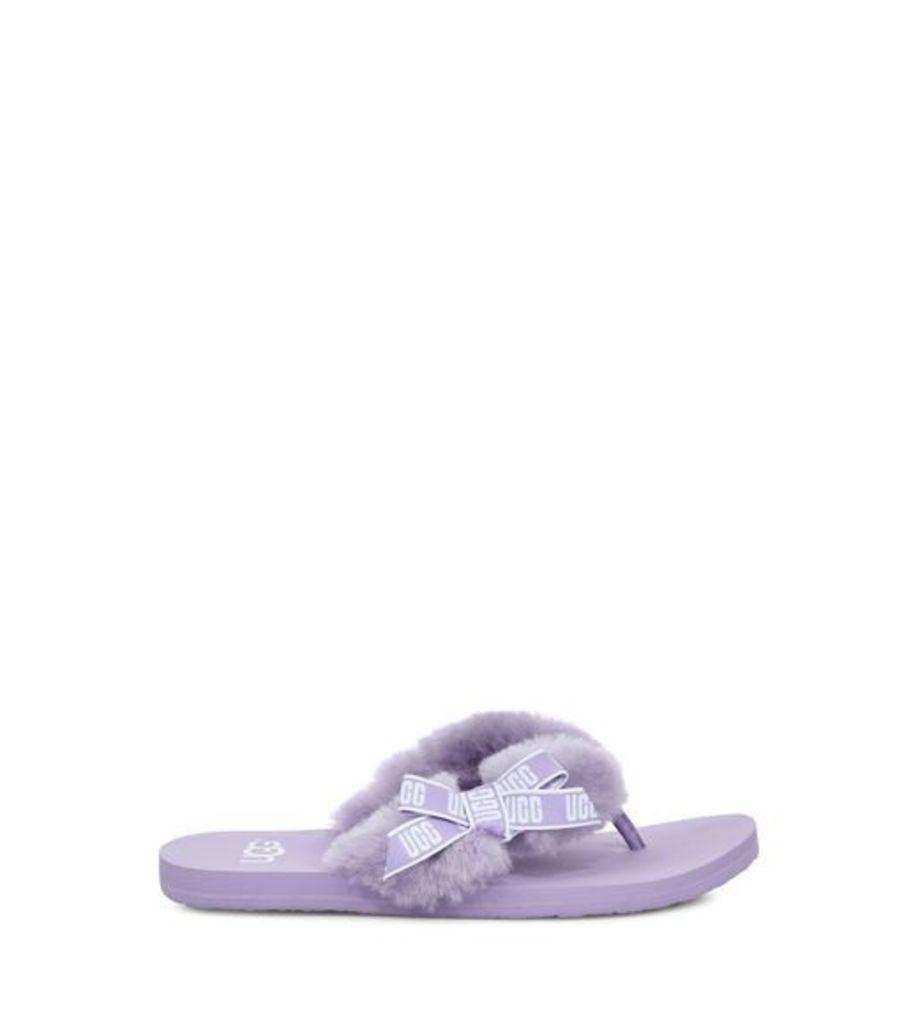 UGG Sunset Graphic Flip Flop Womens Sandals Purple Zen 4
