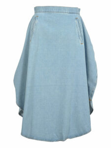 Mm6 Mm6 Oversized Denim Skirt