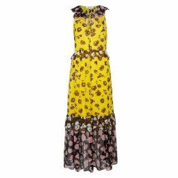 Diane Von Furstenberg Drea Floral-print Silk Georgette Midi Dress