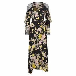 Diane Von Furstenberg Alice Floral-print Silk Chiffon Wrap Dress