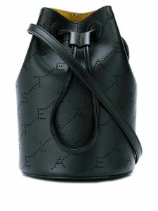 Stella McCartney logo bucket bag - Black