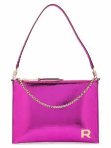 Rochas metallic chain clutch - Pink
