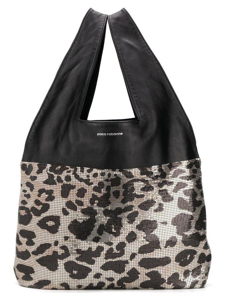Paco Rabanne leopard tote bag - Black