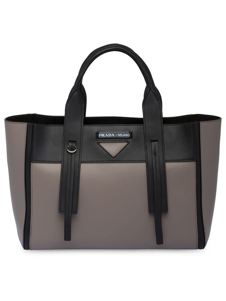 Prada Prada Ouverture medium leather bag - Grey